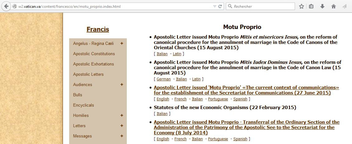 mitis iudex,réforme,nullités de mariage,synode contre la famille