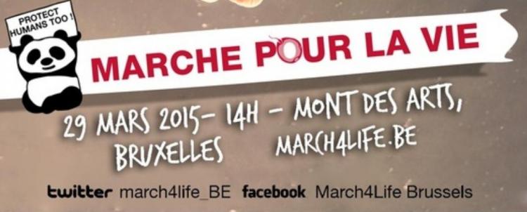 marche pour la vie, bruxelles, 29 mars, march4life