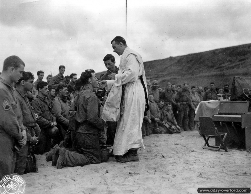 omaha beach, communion, 6 juin 1944