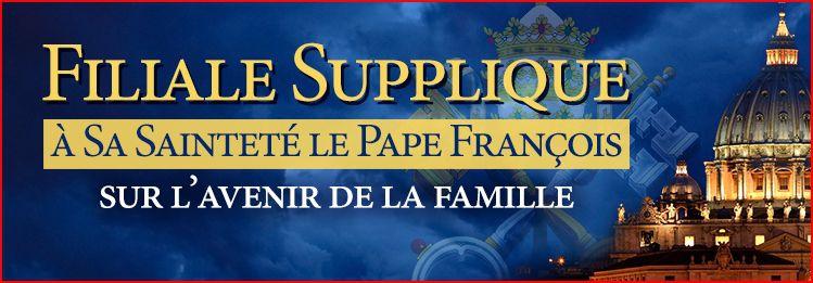 filiale supplique, synode sur la famille, pape françois, divorcés-remariés, homosexualité, LGBT